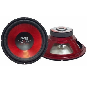 Pyle 10in Red Cone High- Performance Subwoof / Mfr. No.: Plw10rd