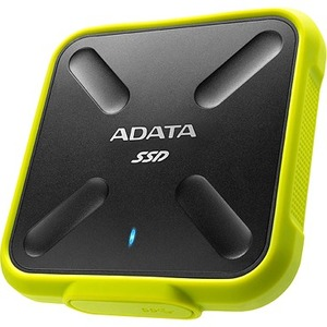 Adata SD700 256 GB Portable Solid State Drive - External - Black, Yellow