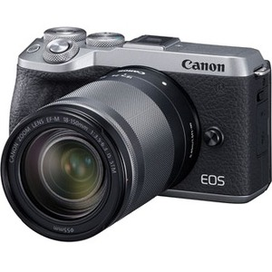 Canon EOS M6 Mark II 32.5 Megapixel Mirrorless Camera with Lens - 18 mm - 150 mm - Silver