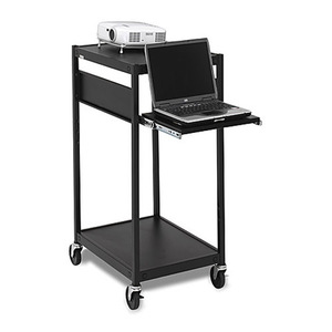 Black Mobile Projector Cart No Elec 24x18x42in Laptop Shelf / Mfr. No.: Ecils2-Bk
