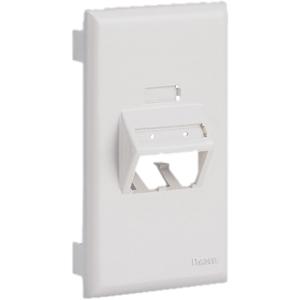 PANDUIT 1-Socket Snap-on Faceplate