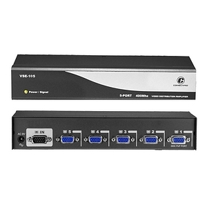 5port 400mhz Video Distribution Amplifier / Splitter / Mfr. No.: Vse-105