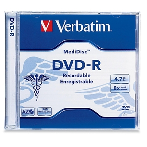 1pk DVD-R 8x 4.7gb Medidisc Branded Thermal Printable Jewel
