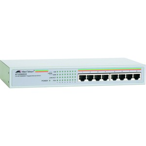 8port 1000bt Gig Unmgd Switch Internal Ps / Mfr. No.: At-Gs900/8-10