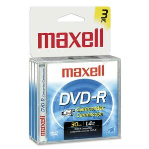 VHS Maxell DVD-R Camcorder 1.4gb 3 Pack / Mfr. No.: 567622