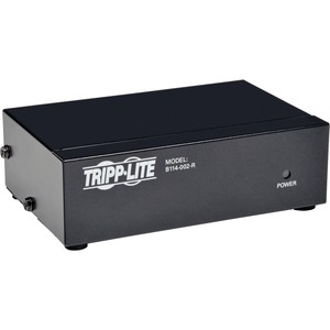 Tripp Lite 2-port Video Splitter with Built-in Booster - 350mhz / Mfr. No.: B114-002-R