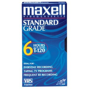 VHS Maxell 120 Min Standard VHS Video Cass / Mfr. No.: 214016