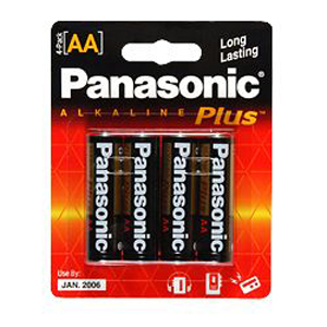 Panasonic Alkaline Batt AA Cell 4pk / Mfr. No.: Am-3pa/4b