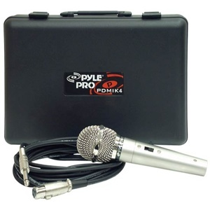Pyle Unidirectional Dynamic Microphone With 15ft Cable and Carrying Case / Mfr. No.: Pdmik-4