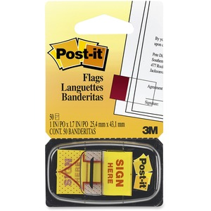 "Post-it® Printed Flags ""Sign Here"" 50/pkg"