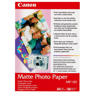 Papier Photo Canon MP-101 - A4 - Mat - 50 Feuilles - 7981A005