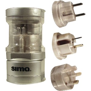Sima International Plug Travel Adapter Set / Mfr. No.: Sip-3