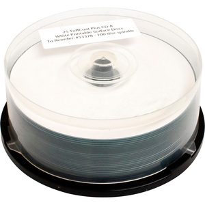 100pk Spindle Tuffcoat Plus Cdr 48x 700mb White Hub Printable / Mfr. No.: 53378