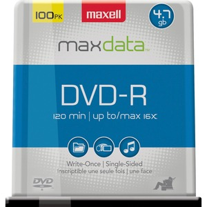 Maxell DVD-R 16x 100-PC Spindle / Mfr. No.: 638014