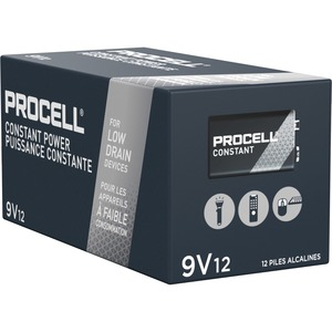 "Duracell® Procell® Alkaline Batteries ""9V"" 12/box"