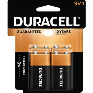 "Duracell® CopperTop® Battery ""9V"" 4/pkg"