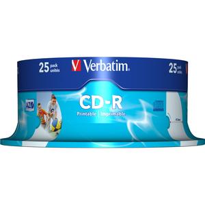 VERBATIM Spindle de 25 CD-R 700MB 52x (43439) - 43439