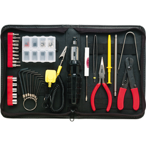 36 Piece Computer Tool Kit Black Case Demagnetized Tools / Mfr. No.: F8e066