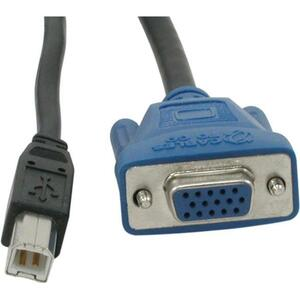 10ft USB 2.0/Sxga Kvm Cable Hd15m USBb/Hd15f USBa / Mfr. no.: 14176