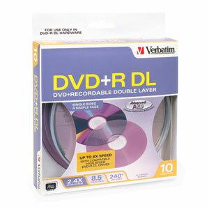 DVD+R VERBATIM DL 8.5GB / 2.4X PACK DE 10 - 43517