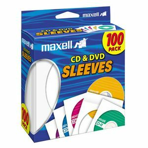 Maxell CD/DVD Sleeves White 100/pkg