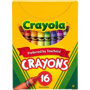 Crayola® Regular Crayons Assorted Colours 16/pkg
