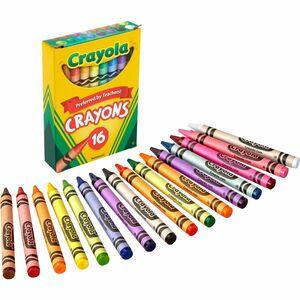 Crayons Regular Asstd Colours 16/pk