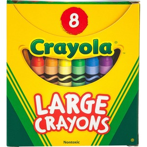 Crayola® Large Crayons Assorted Colours 8/pkg