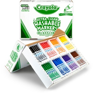 Crayola® Classpack Washable Markers Assorted Colours 200/cse
