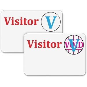 Office Mall - Time's Up! Self-Expiring Visitor Security Badge