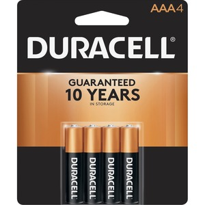 "Duracell® CopperTop® Batteries ""AAA"" 4/pkg"