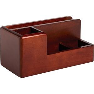 Rolodex Wood Tones Desk Organizer Mahogany