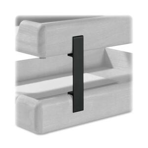 Rolodex® Wood Tones Stacking Supports Black 4/set