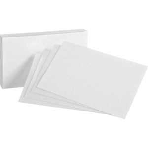 "Oxford White Index Cards 4"" x 6"" Plain 100/pkg"
