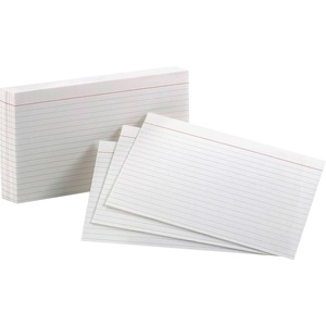 "Oxford White Index Cards 5"" x 8"" Ruled 100/pkg"