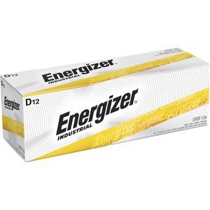 "Energizer Industrial Alkaline Battery, ""D"" Size, 12/BX"