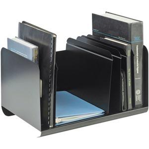 STEELMASTER® Adjustable Book/Catalogue Rack Black