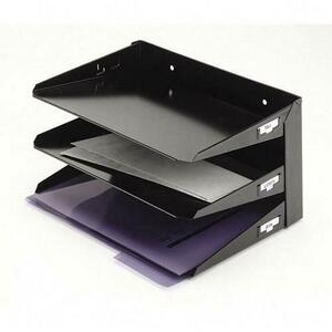 STEELMASTER® Efficiency Trays 3-Tier Letter Black
