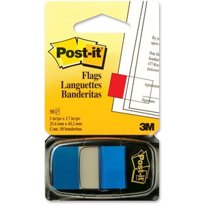 "Post-it® Flags 1"" Blue 50/pkg"