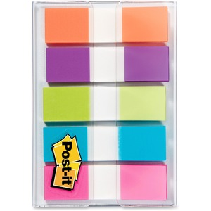 "Post-it® Flags 1/2"" 20 flags per pad Assorted Bright Colours 5 pads/pkg"