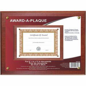 """NuDell Award-A-Plaque 13"""" x 10-1/2"""" Mahogany"""