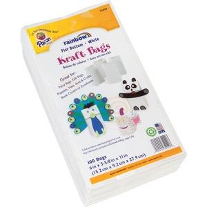 Pacon® Rainbow® Kraft Bags #6 White 100/pkg
