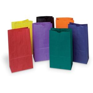 Pacon® Rainbow® Kraft Bags #6 Bright Assorted Colours 28/pkg
