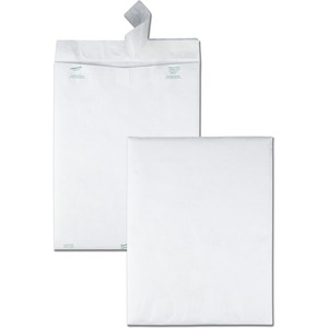 "Survivor® DuPont Tyvek® Flap-Stik® Envelopes 12"" x 15-1/2"" White 100/box"