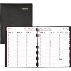 """Brownline® CoilPro Weekly Diary 11x8-1/2"""" English Black"""