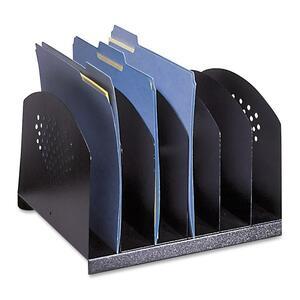 "Safco® Steel Desk Organizer Rack 12-1/4""W x 11-1/4""D x 8""H Black"