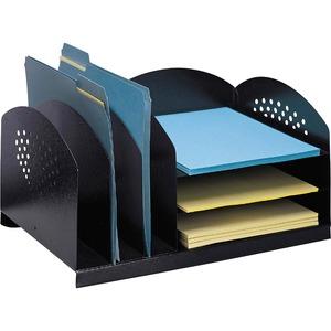 Safco® Steel Combination Desk Rack Black
