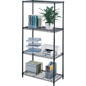 "Safco® Wire Shelving 36"" x 18"" Black"