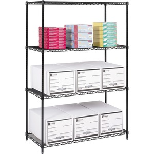 "Safco® Wire Shelving 48"" x 24"" Black"