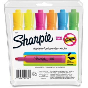 Sharpie® Tank Highlighters Assorted Colours 6/pkg